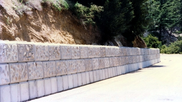 Large Concrete Block Diversion Barrier